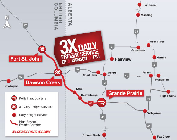 Courier Services Reilly Transfer Grande Prairie AB